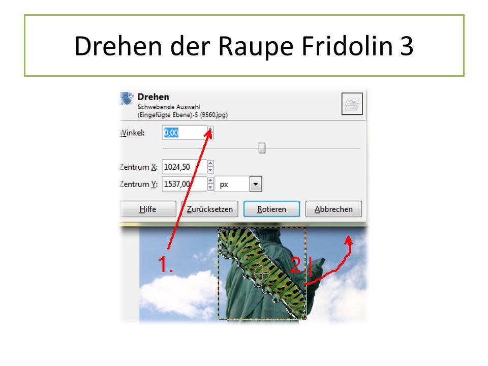 Drehen der Raupe Fridolin 3