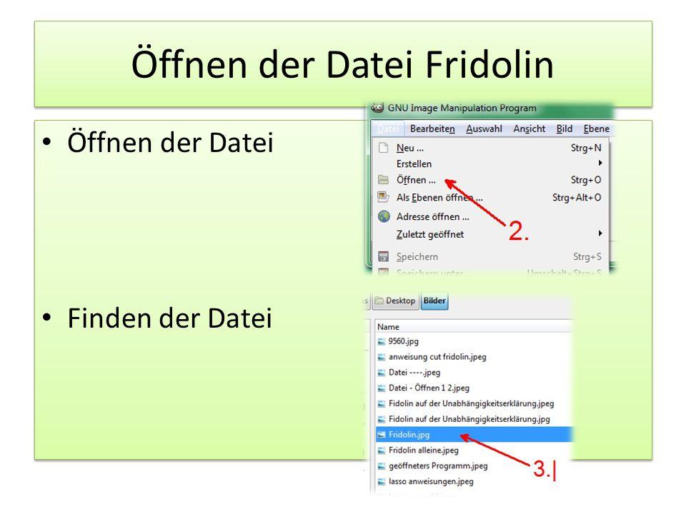 Öffnen der Datei Fridolin