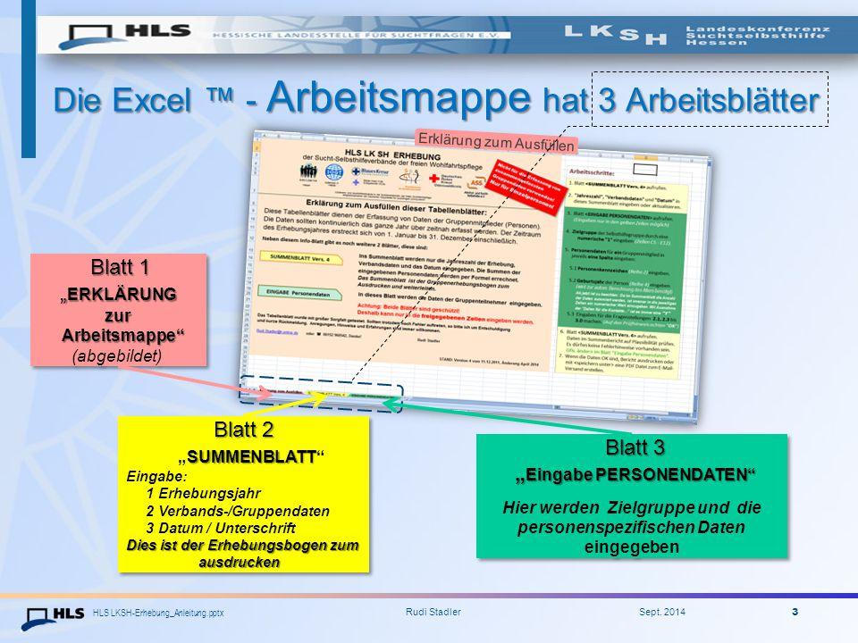 Die Excel ™ - Arbeitsmappe hat 3 Arbeitsblätter