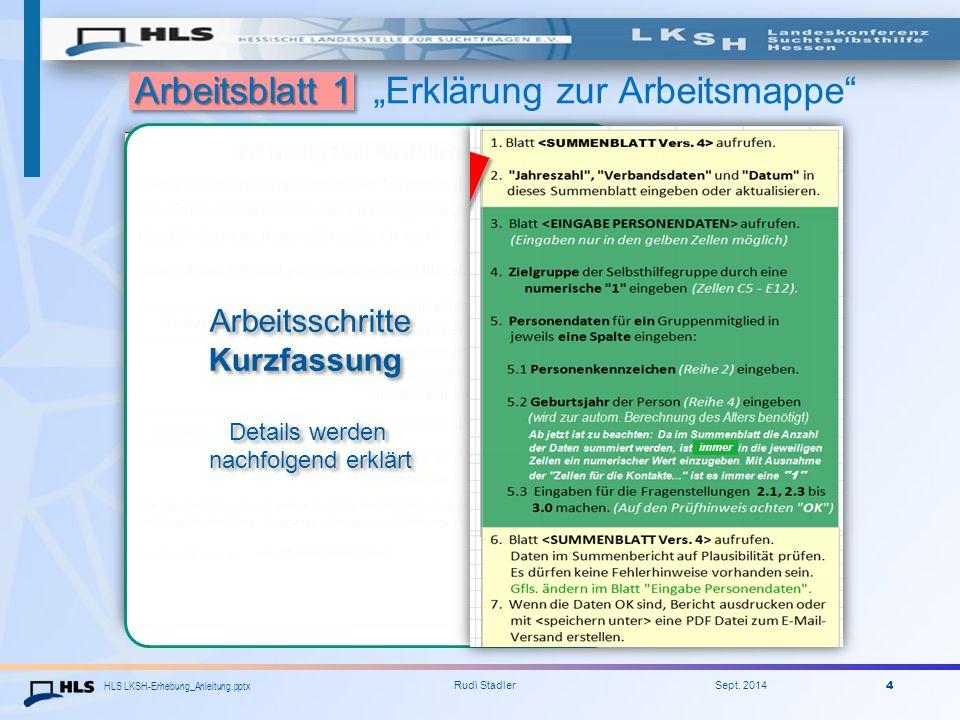 """Arbeitsblatt 1 """"Erklärung zur Arbeitsmappe"""