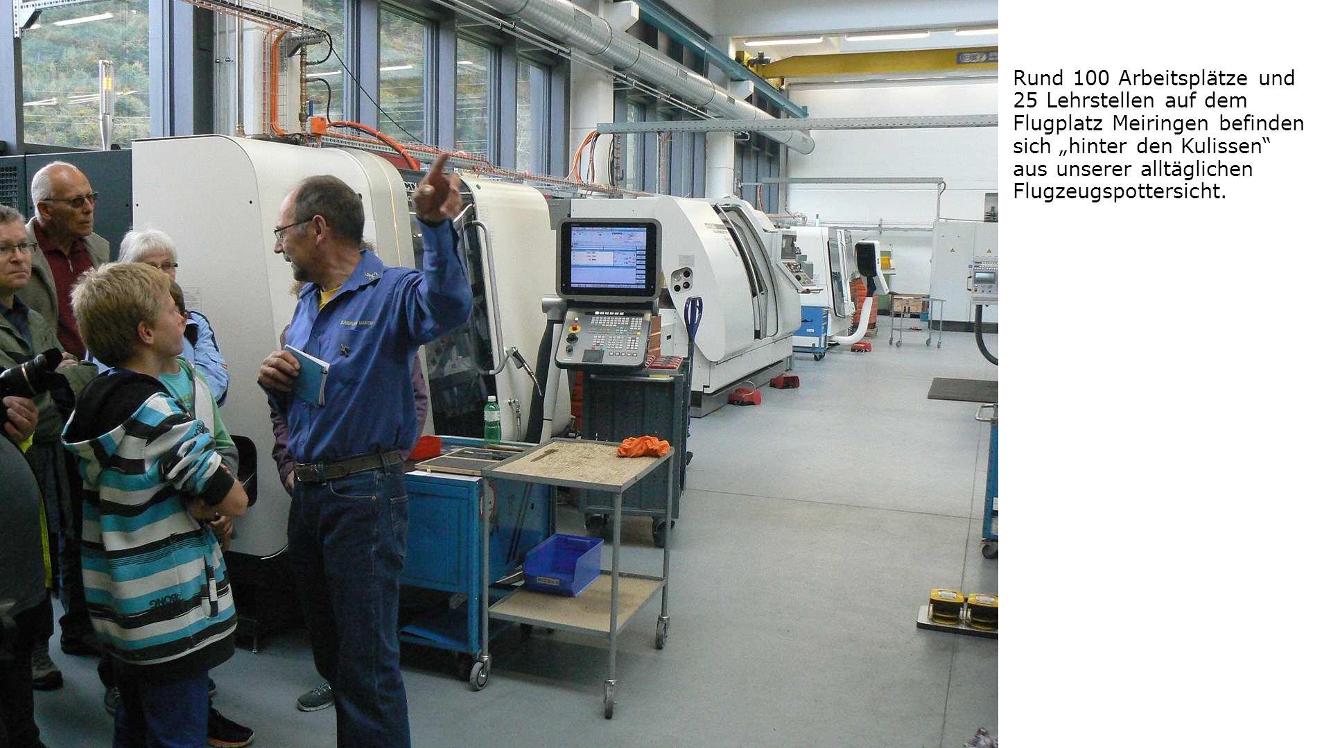 """Rund 100 Arbeitsplätze und 25 Lehrstellen auf dem Flugplatz Meiringen befinden sich """"hinter den Kulissen aus unserer alltäglichen Flugzeugspottersicht."""