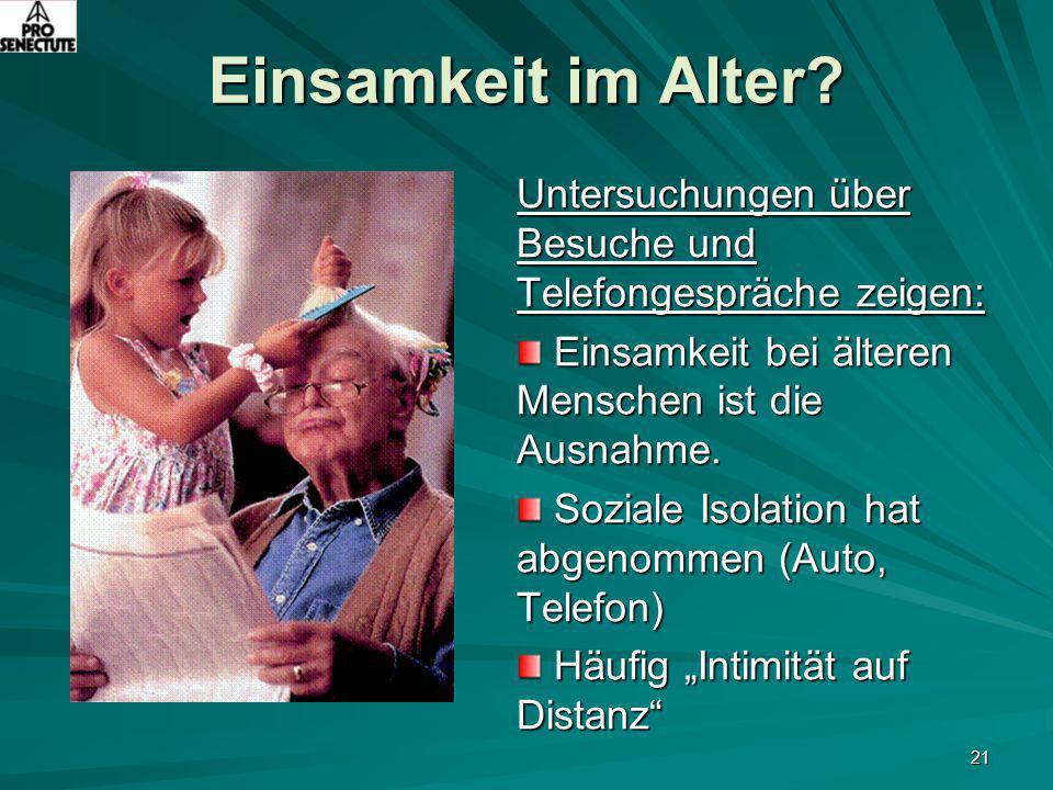 Fragen des Alters und des Alterns Präsentation von Heinz Ernst