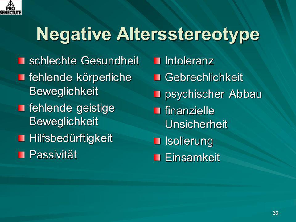 Negative Altersstereotype