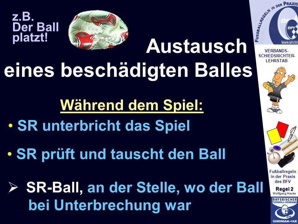 Austausch eines beschädigten Balles