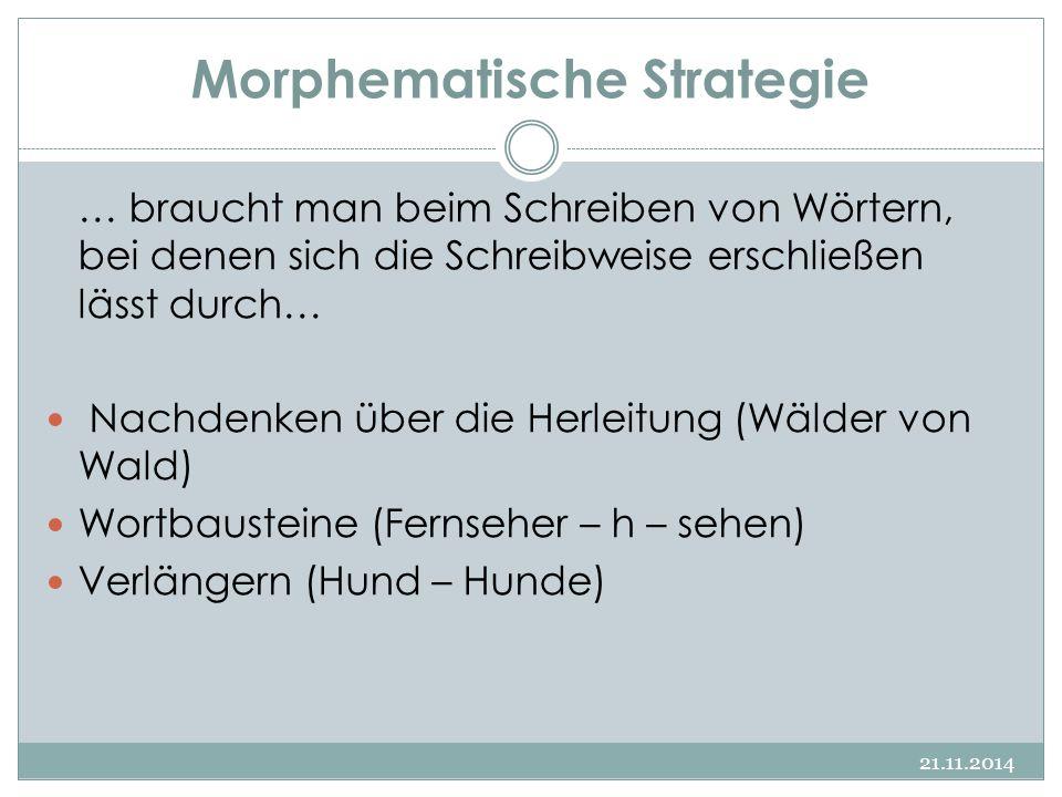 Morphematische Strategie