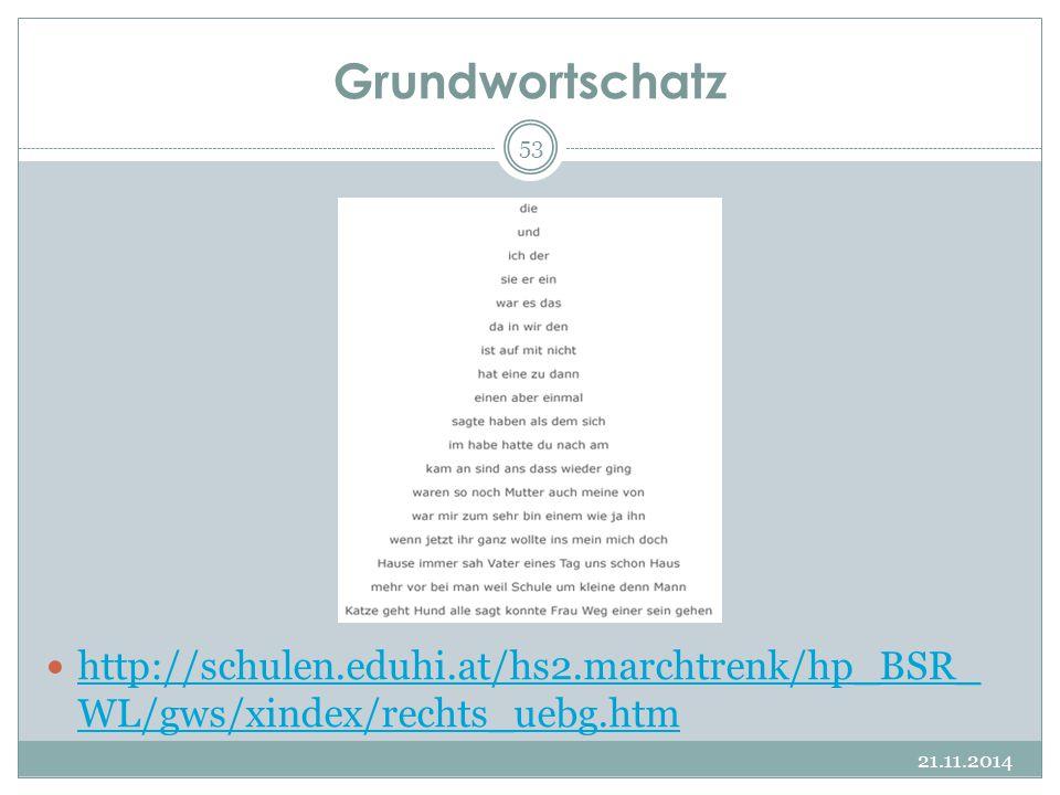 Grundwortschatz http://schulen.eduhi.at/hs2.marchtrenk/hp_BSR_WL/gws/xindex/rechts_uebg.htm.