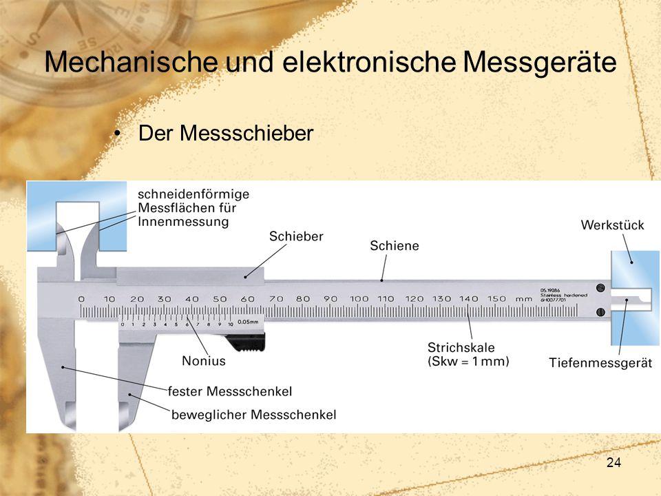 Mechanische und elektronische Messgeräte