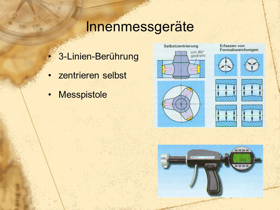 Innenmessgeräte 3-Linien-Berührung zentrieren selbst Messpistole