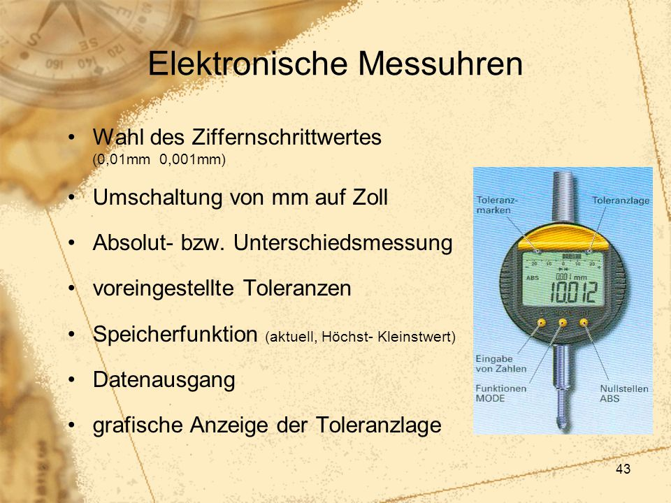 Elektronische Messuhren