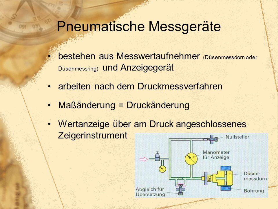 Pneumatische Messgeräte