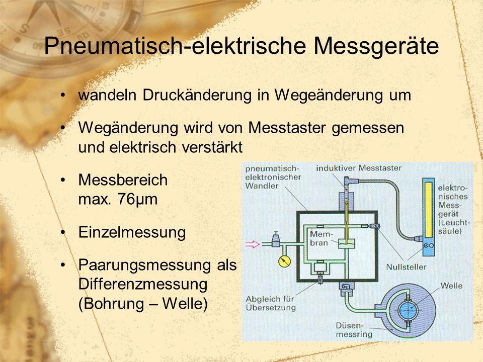 Pneumatisch-elektrische Messgeräte