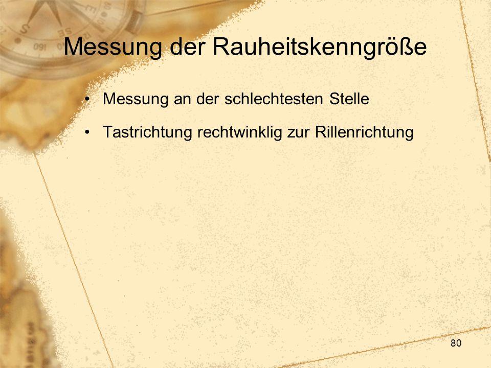 Messung der Rauheitskenngröße