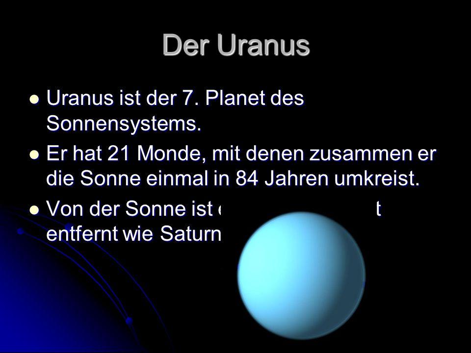 Der Uranus Uranus ist der 7. Planet des Sonnensystems.