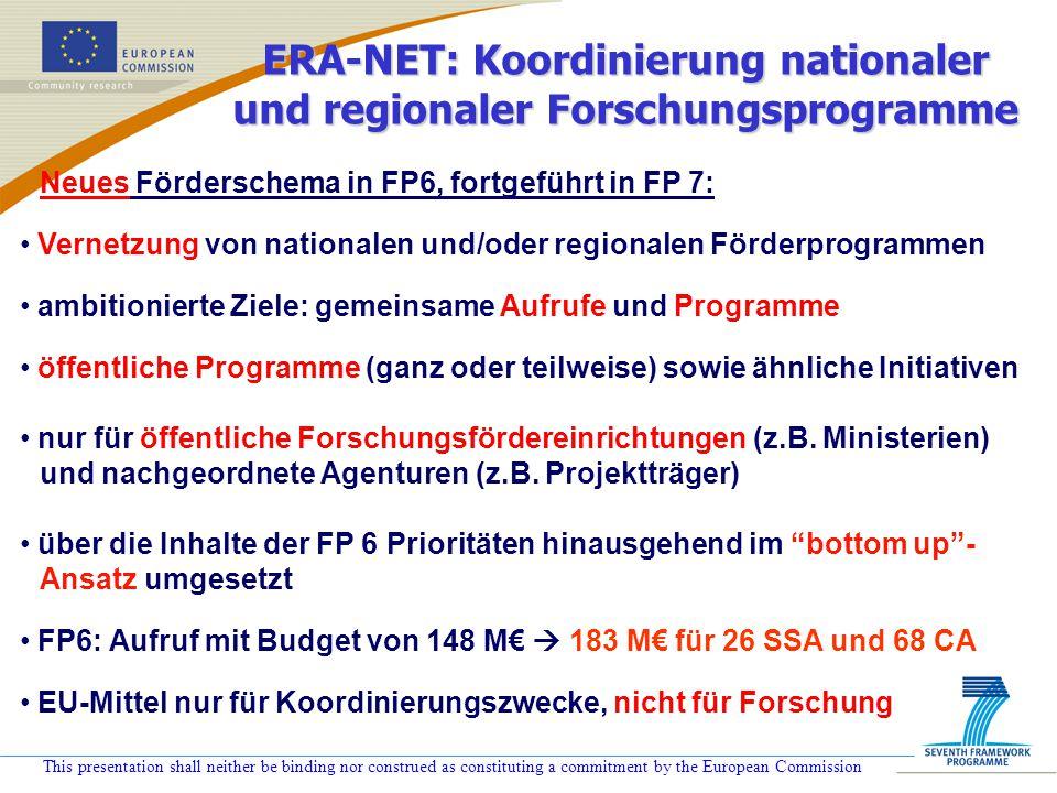 ERA-NET: Koordinierung nationaler und regionaler Forschungsprogramme