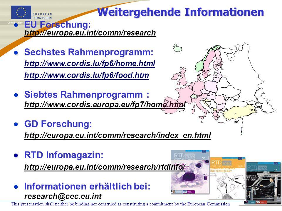 Weitergehende Informationen