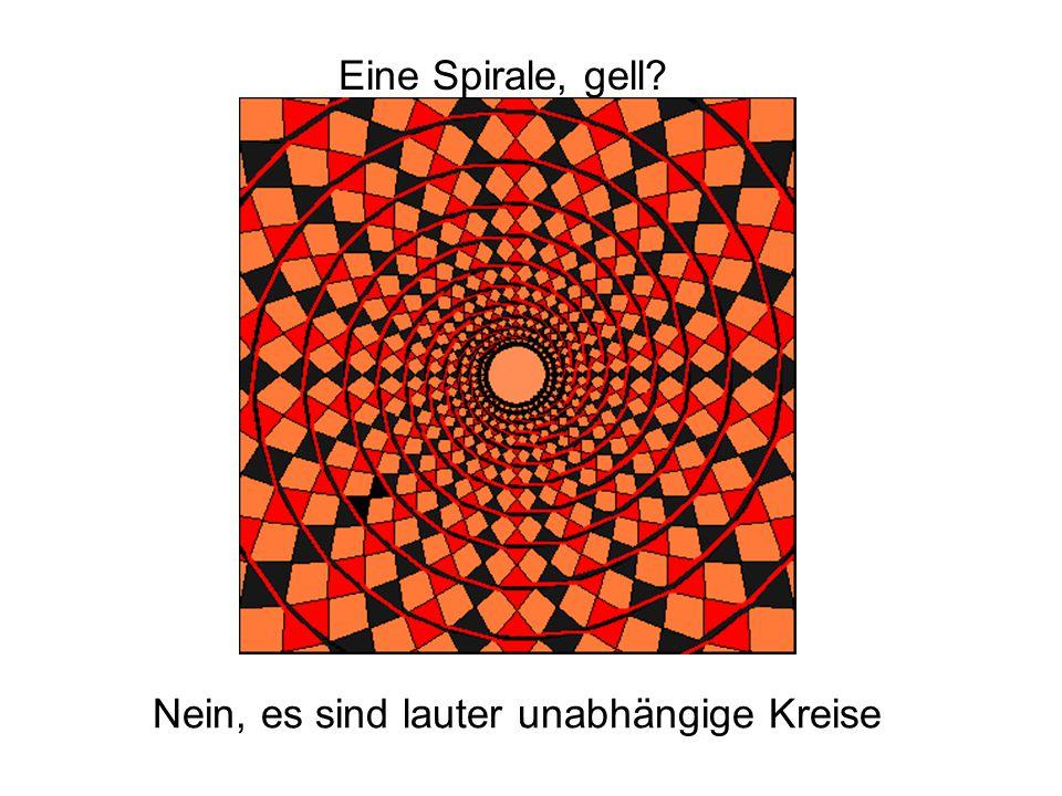 Eine Spirale, gell Nein, es sind lauter unabhängige Kreise