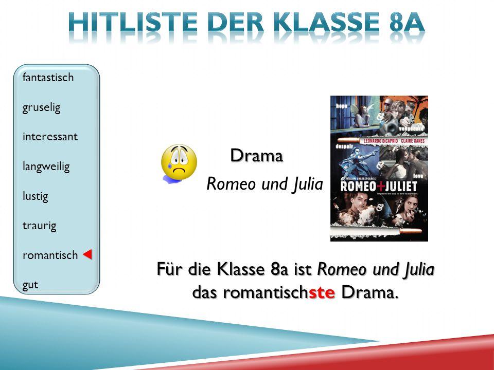 HITLISTE der klasse 8A Drama Romeo und Julia