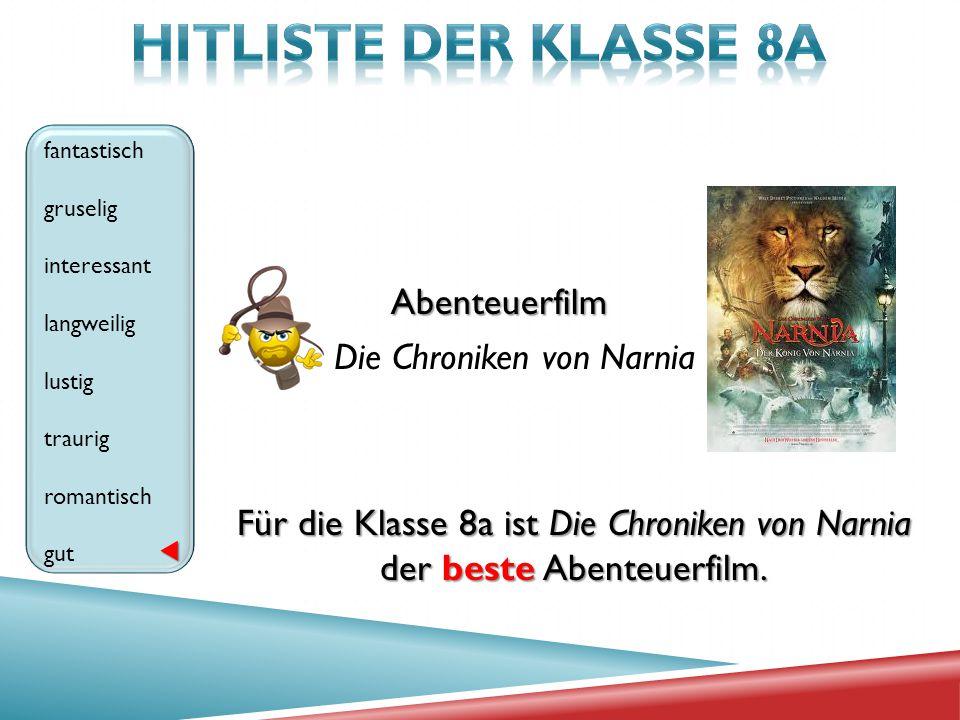 HITLISTE der klasse 8A Abenteuerfilm Die Chroniken von Narnia