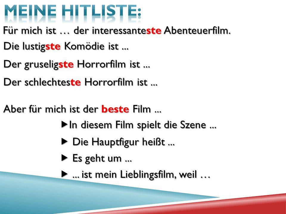 MEINE HITLISTE: Für mich ist … der interessanteste Abenteuerfilm.