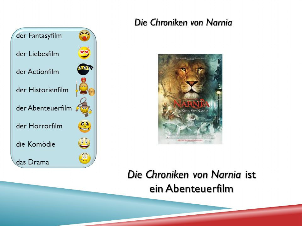 Die Chroniken von Narnia ist ein Abenteuerfilm