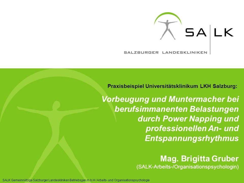 Praxisbeispiel Universitätsklinikum LKH Salzburg: