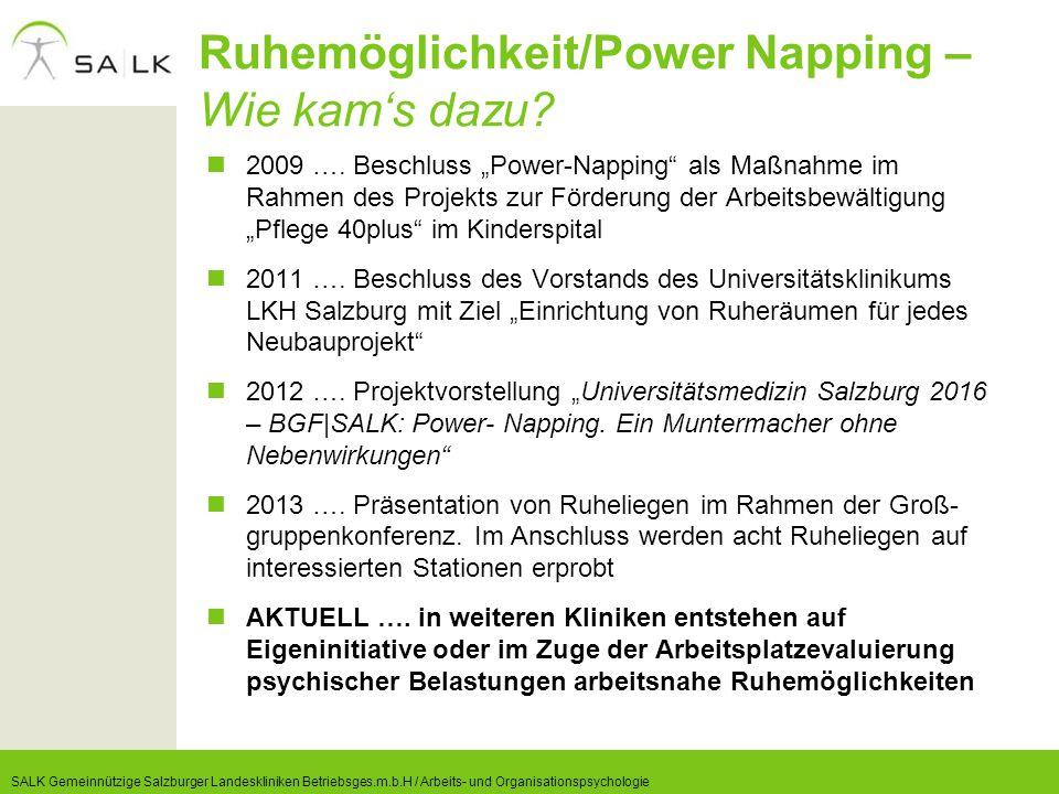 Ruhemöglichkeit/Power Napping – Wie kam's dazu