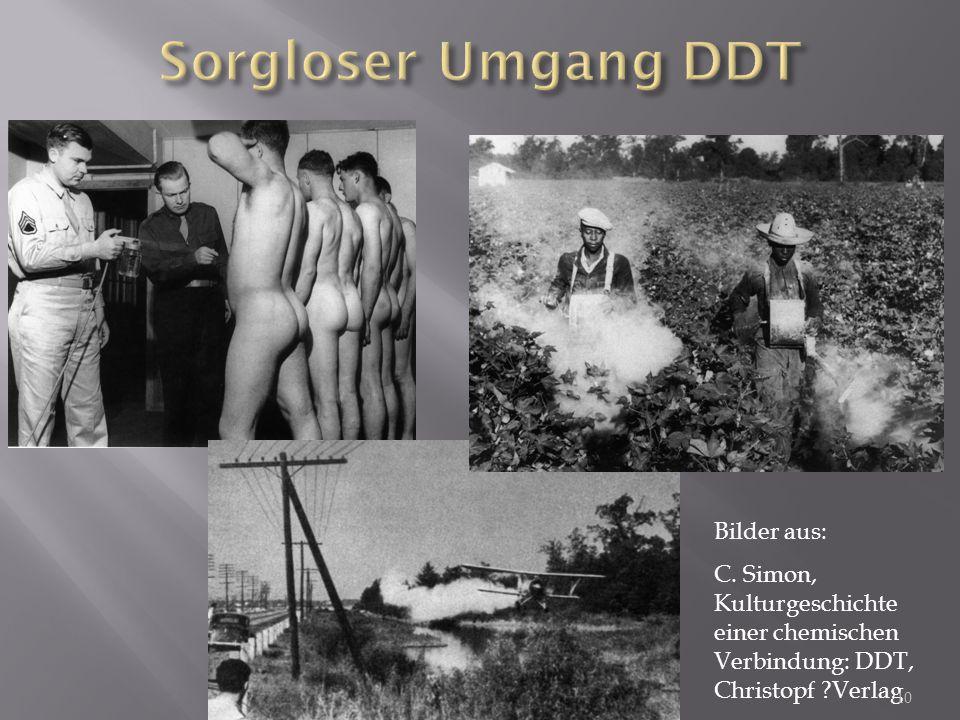 Sorgloser Umgang DDT Bilder aus: