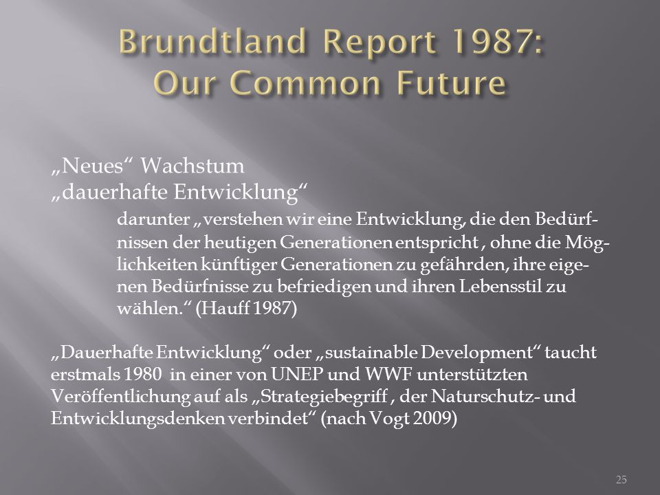 Brundtland Report 1987: Our Common Future