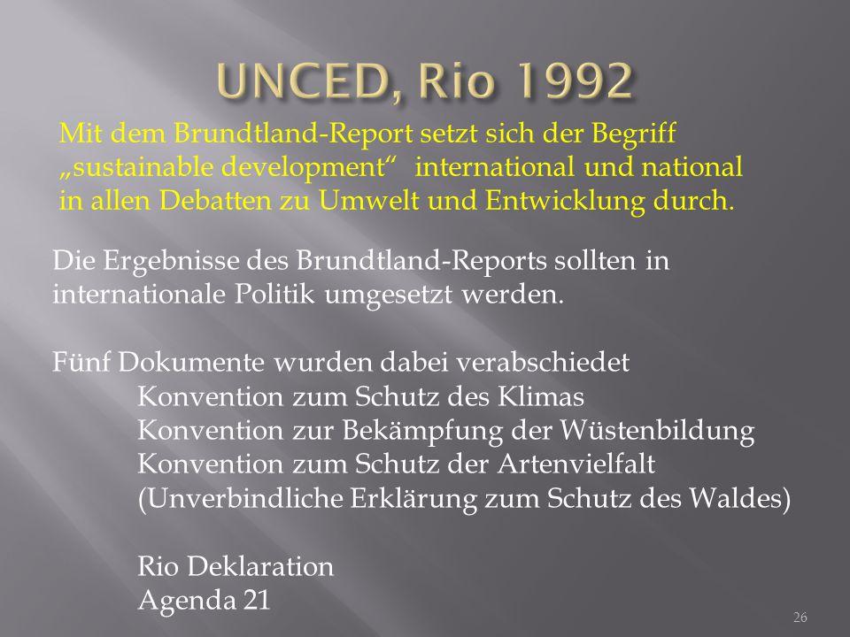 UNCED, Rio 1992