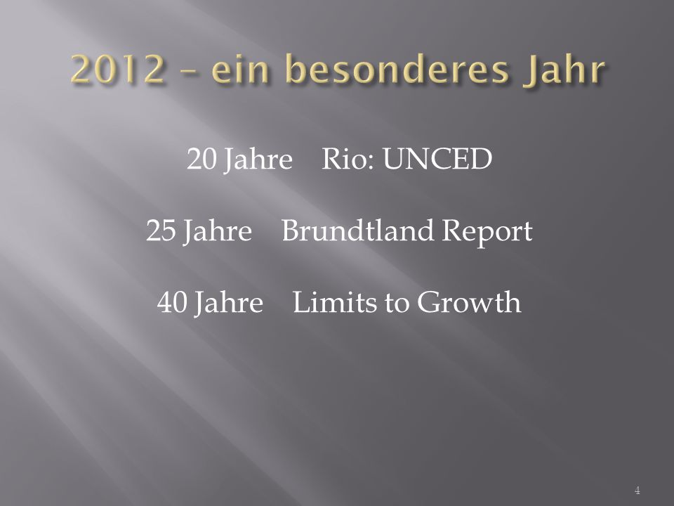 25 Jahre Brundtland Report