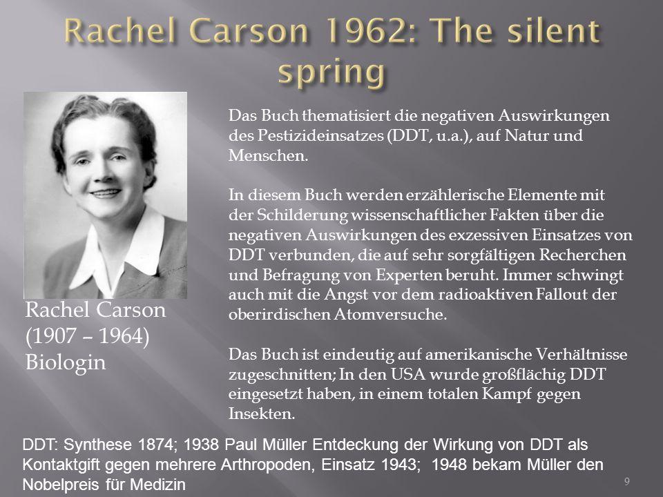 Rachel Carson 1962: The silent spring