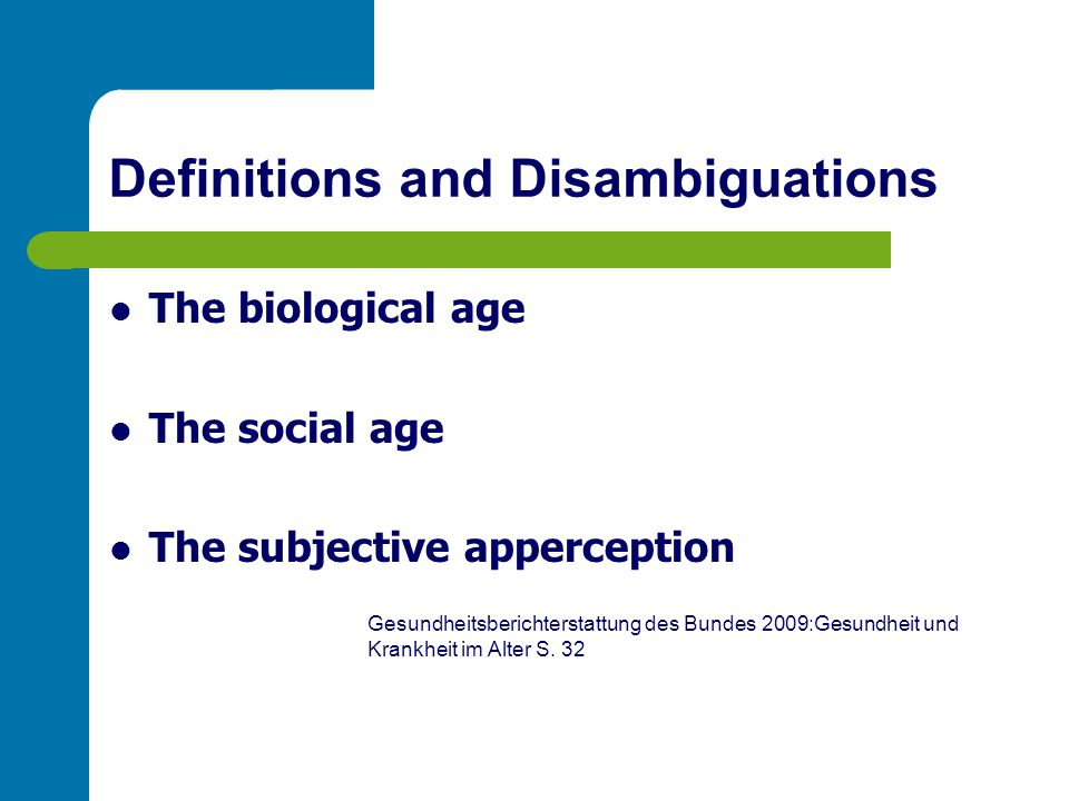 Definitions and Disambiguations