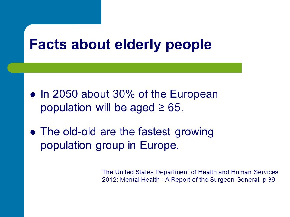 Facts about elderly people