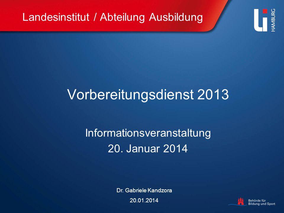 Landesinstitut / Abteilung Ausbildung
