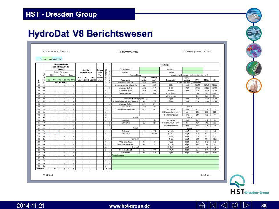 HydroDat V8 Berichtswesen