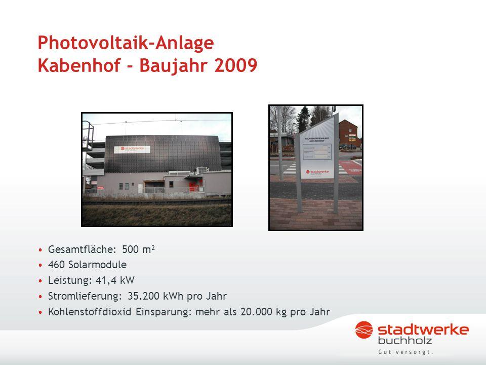 Photovoltaik-Anlage Kabenhof - Baujahr 2009