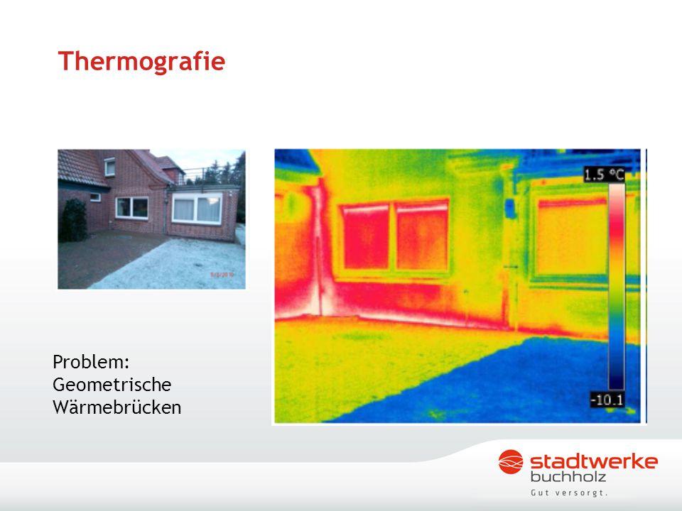 Thermografie Problem: Geometrische Wärmebrücken