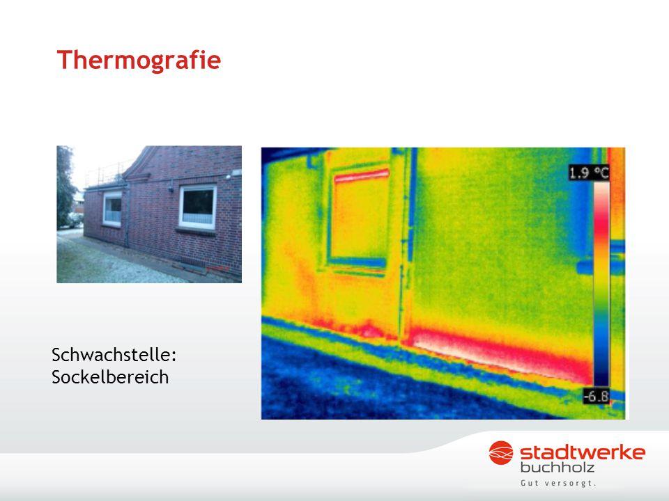 Thermografie Schwachstelle: Sockelbereich