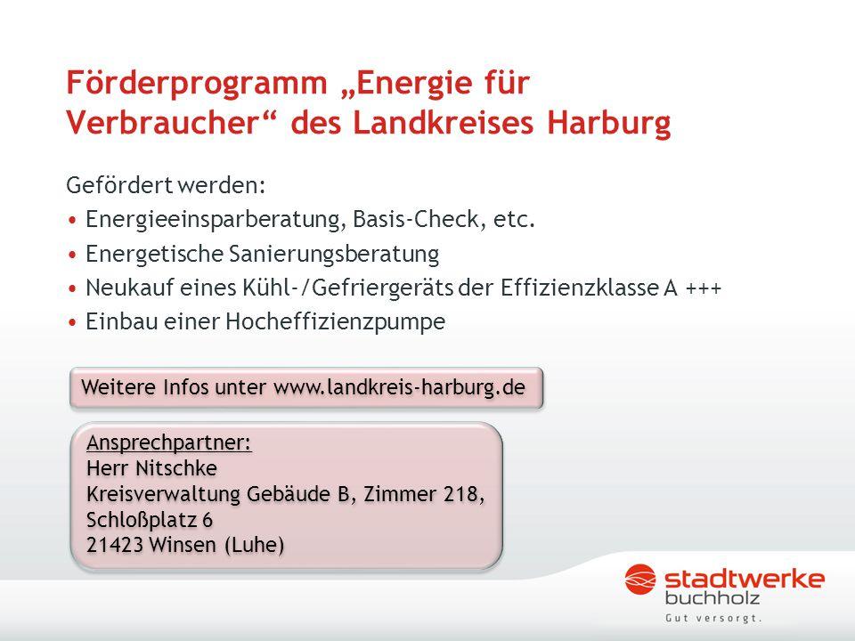 """Förderprogramm """"Energie für Verbraucher des Landkreises Harburg"""