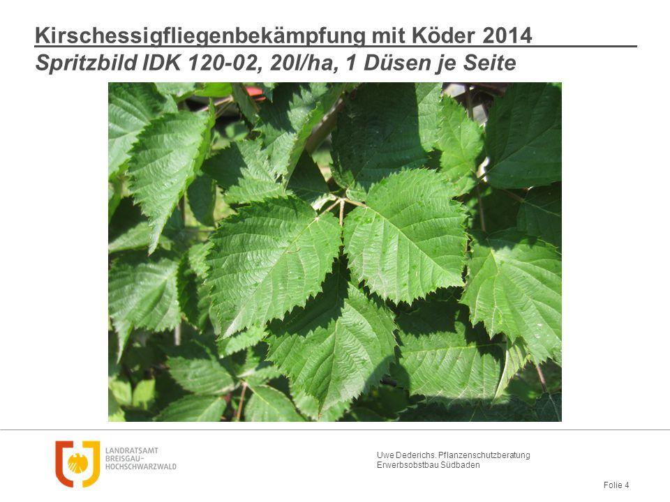 Kirschessigfliegenbekämpfung mit Köder 2014