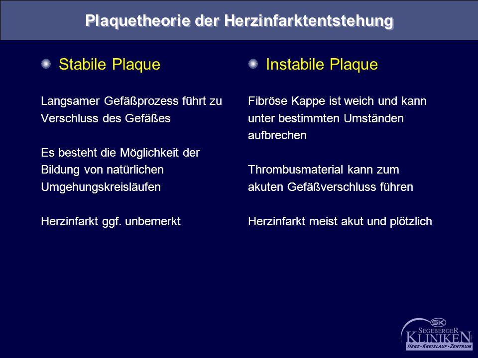 Plaquetheorie der Herzinfarktentstehung