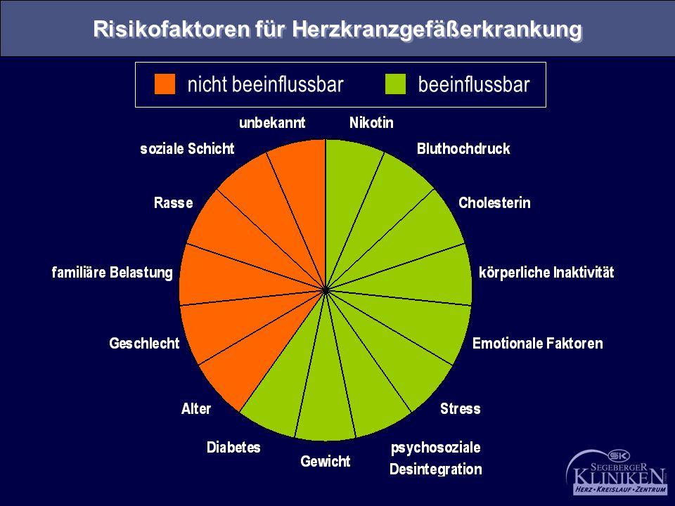 Risikofaktoren für Herzkranzgefäßerkrankung