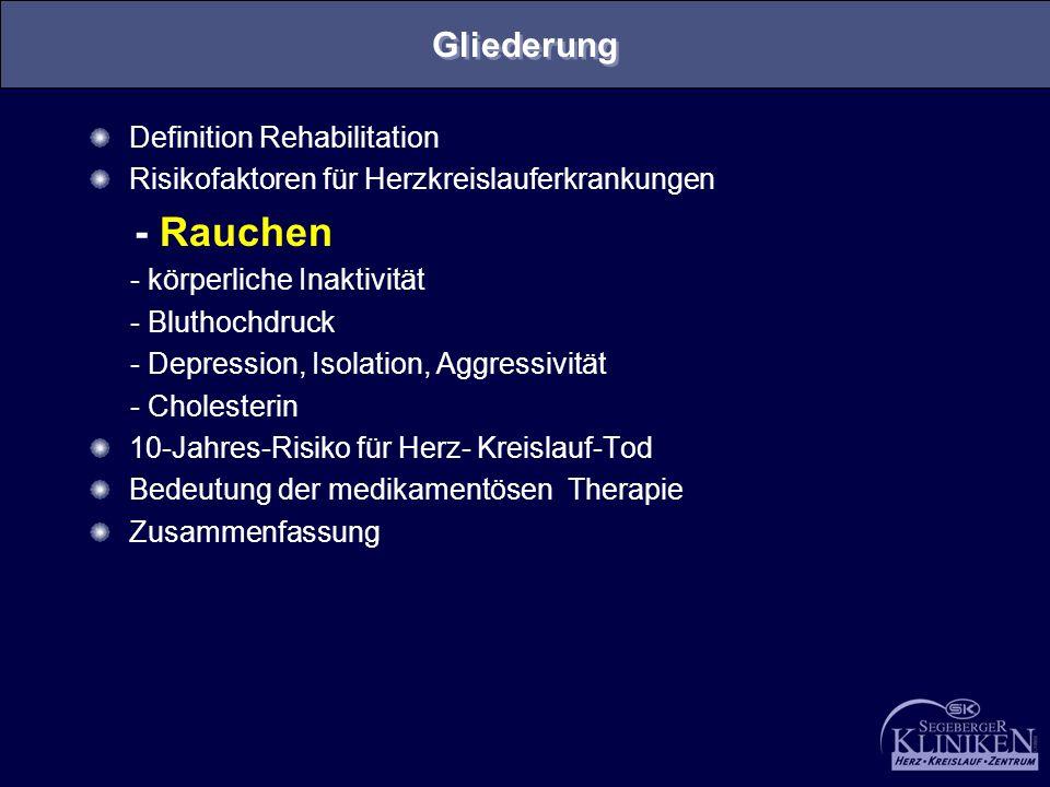- Rauchen Gliederung Definition Rehabilitation