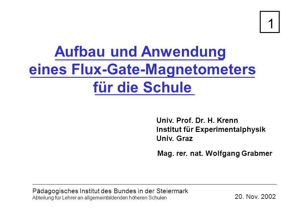 eines Flux-Gate-Magnetometers