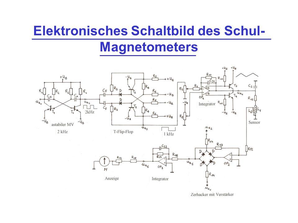 Elektronisches Schaltbild des Schul-Magnetometers