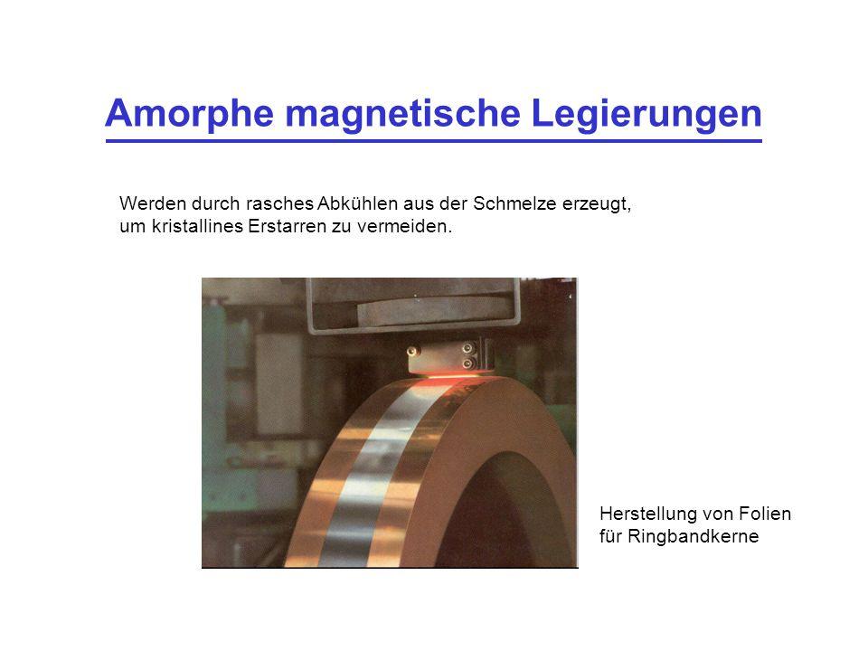 Amorphe magnetische Legierungen