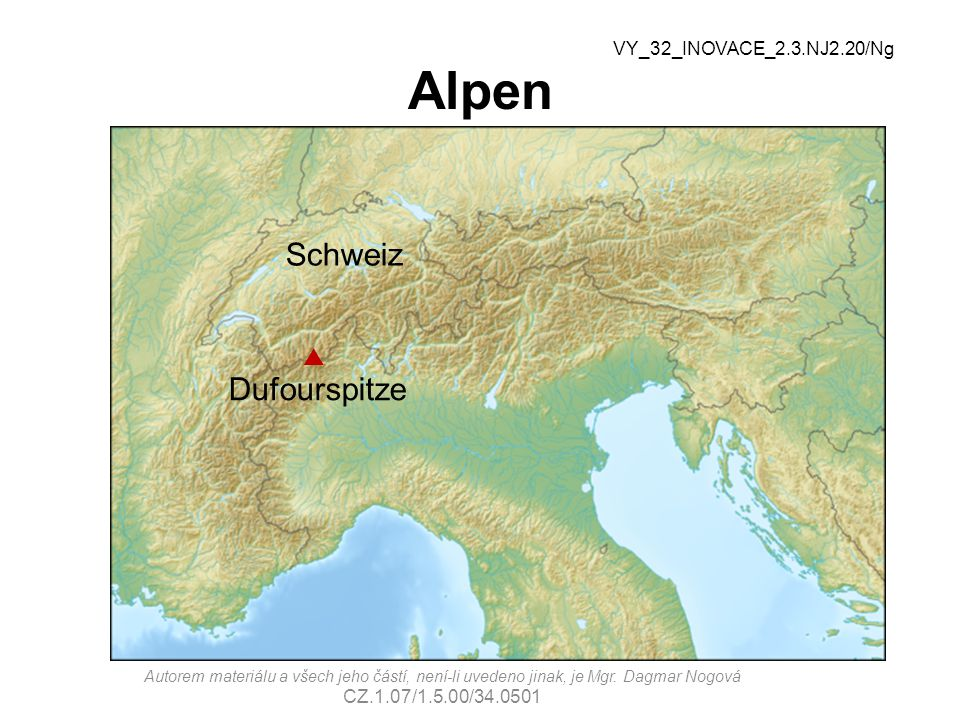 Alpen Schweiz Dufourspitze p VY_32_INOVACE_2.3.NJ2.20/Ng