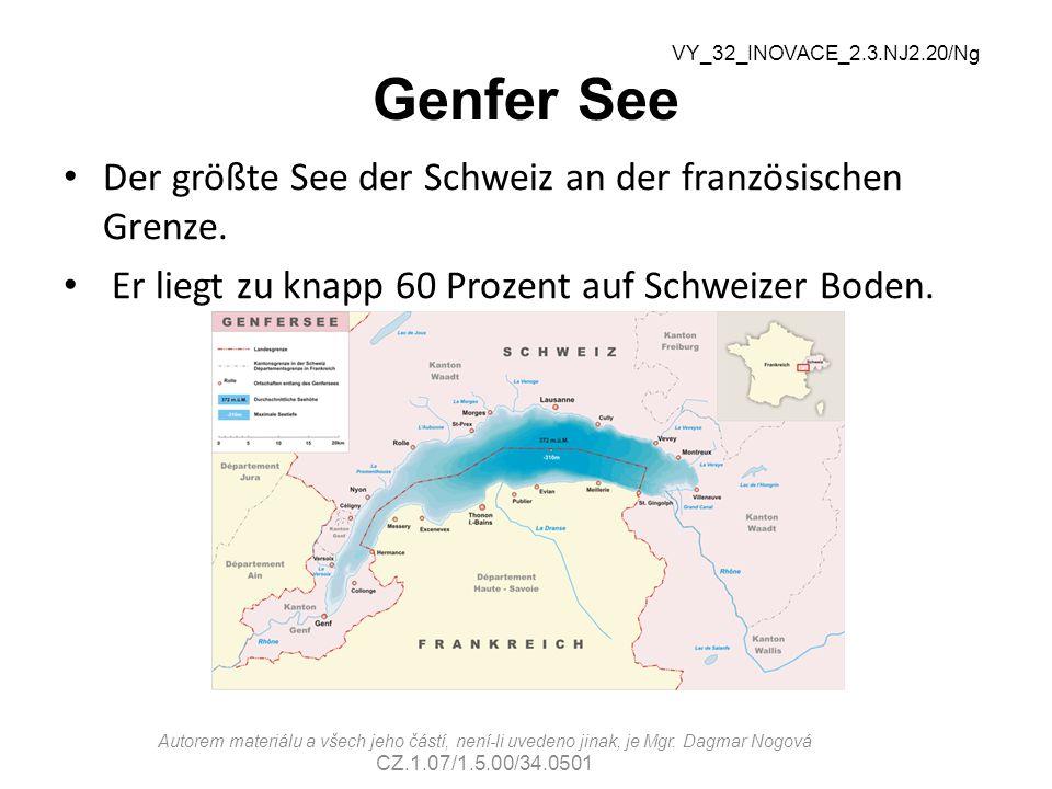 Genfer See Der größte See der Schweiz an der französischen Grenze.