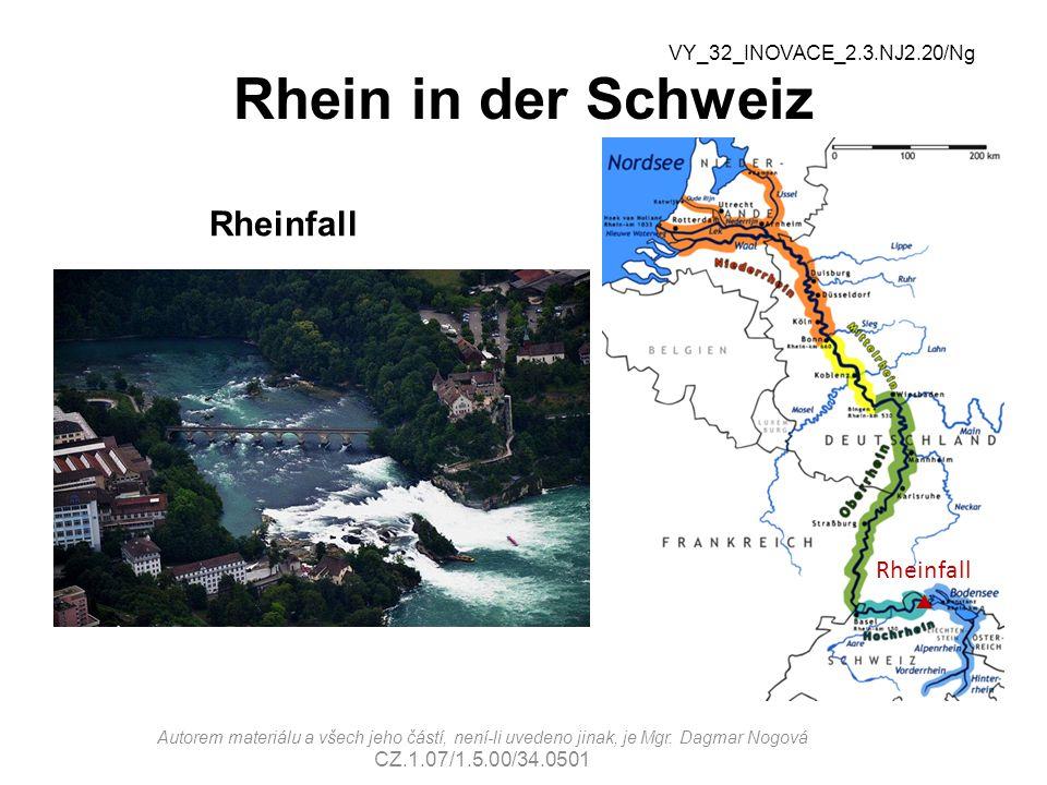 Rhein in der Schweiz Rheinfall Rheinfall  VY_32_INOVACE_2.3.NJ2.20/Ng