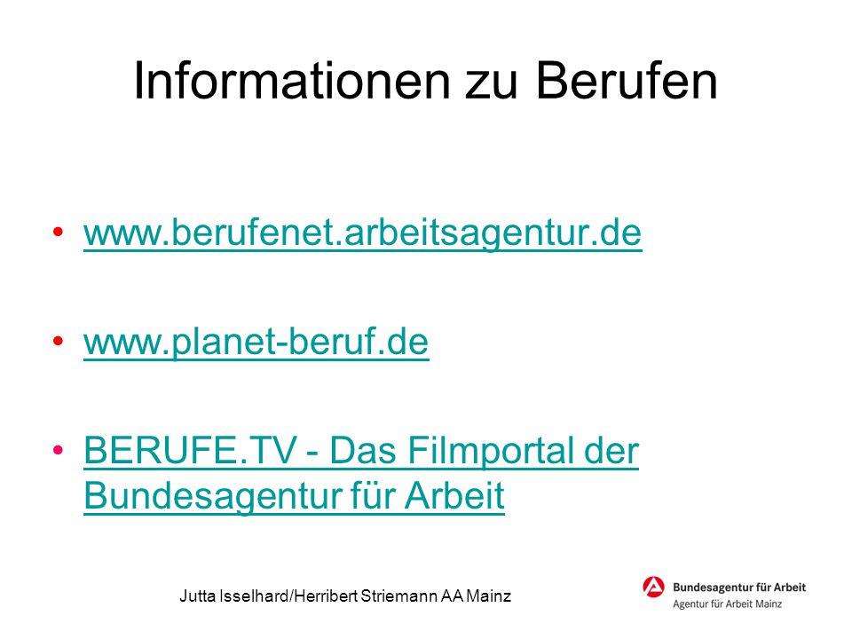 Informationen zu Berufen